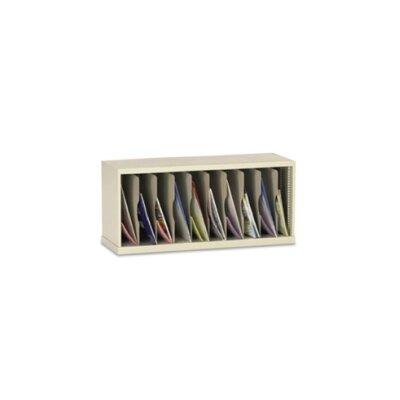 10 Vertical Pocket Sorter Color: Putty, Size: 16.38 H x 36 W x 15.75 D