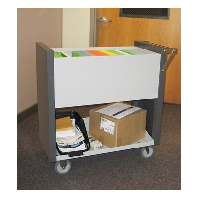 Medium File Cart with Casters B101W