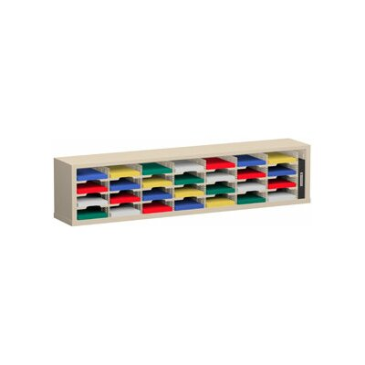 28 Pocket Sorter Color: Putty, Size: 16.38 H x 72 W x 15.75 D