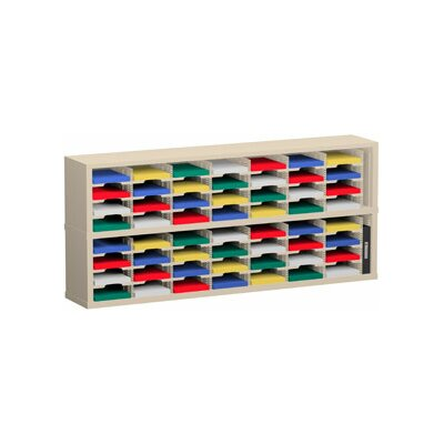 56 Pocket Sorter Color: Putty, Size: 31.75 H x 72 W x 12.75 D