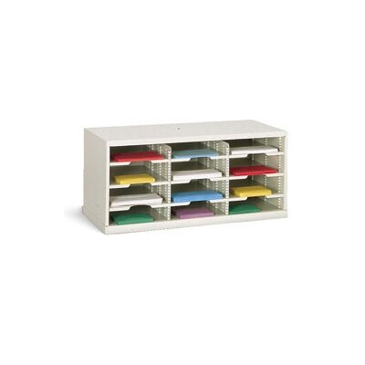12 Pocket Sorter Color: Grey, Size: 16.38 H x 36 W x 15.75 D