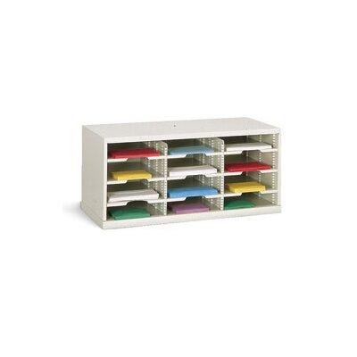 12 Pocket Sorter Color: Putty, Size: 16.38 H x 36 W x 15.75 D
