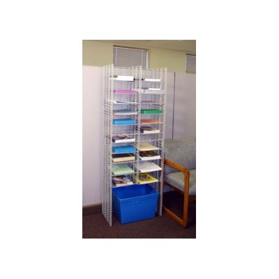 22 Pocket Free Standing Organizer Wire Shelves Size: 11.13 W x 12 D