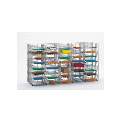40 Pocket Wall Hung Wire Sorter Size: 32.25 H x 60 W x 12 D