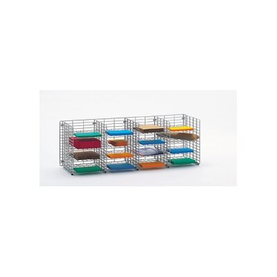 16 Pocket Wall Hung Wire Sorter Size: 16.13 H x 48 W x 15 D
