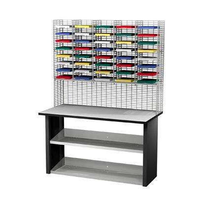 40 Compartment Mailroom Organizer