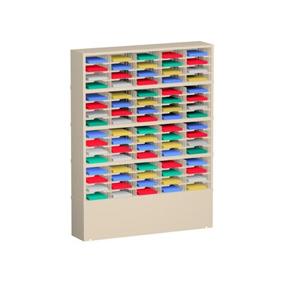 80 Pocket Mail Sorter on Caster Base Color: Grey Product Picture 1