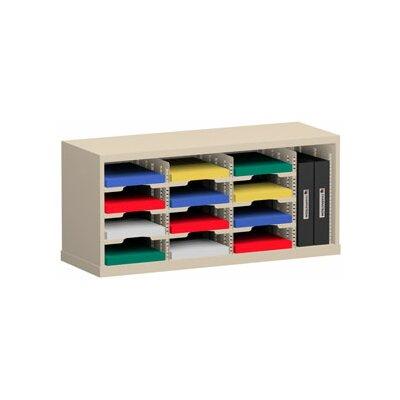 13 Pocket Sorter Size: 16.38 H x 36 W x 15.75 D, Color: Putty