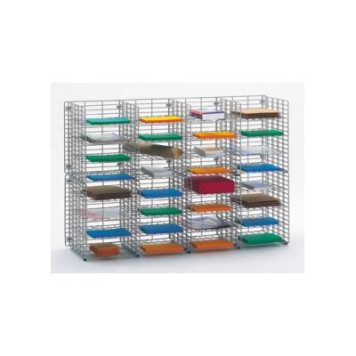 32 Pocket Wire Mail Sorter Size: 32.25 H x 48 W x 12 D