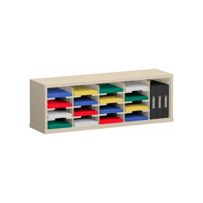 17 Pocket Mail Sorter Color: Putty, Size: 16.38 H x 48 W x 15.75 D