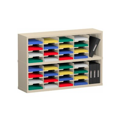 34 Pocket Mail Sorter Color: Putty, Size: 31.75 H x 48 W x 15.75 D