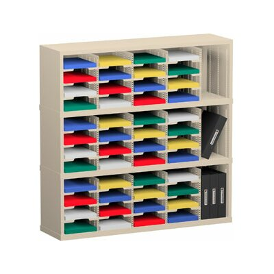 51 Pocket Mail Sorter Color: Putty, Size: 47.13 H x 48 W x 15.75 D