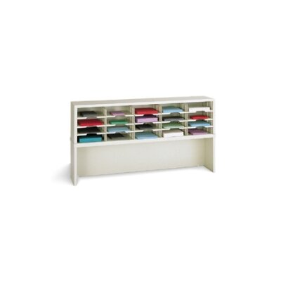 20 Pocket Mail Sorter with Closed Riser Color: Grey