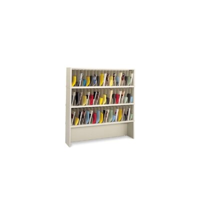 57 Vertical Pocket Mail Sorter with Closed Riser Color: Putty Product Picture 1