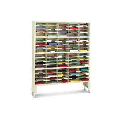 80 Pocket Mail Sorter with Open Riser Color: Grey