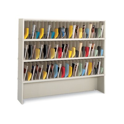 69 Pocket Vertical Mail Sorter and Closed Riser Color: Putty Product Picture 317