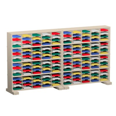 160 Pocket Mail Sorters on Caster Base Color: Putty