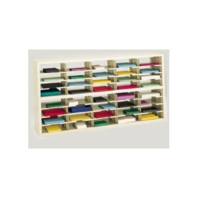 40 Pocket Open-Back Double Mail Sorter Color: Putty