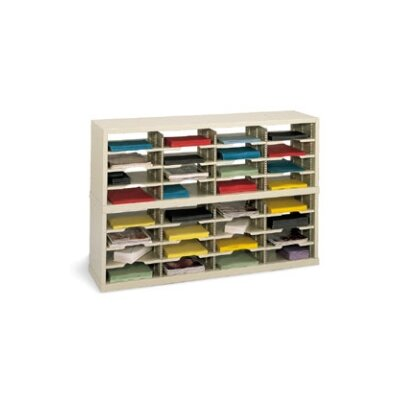 32 Pocket Open-Back Double Mail Sorter Color: Grey