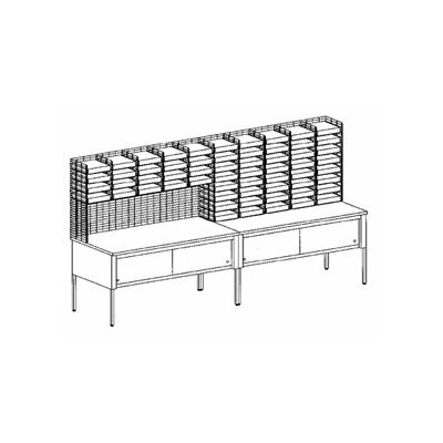 60 Compartment Mailroom Organizer Size: 60.25 - 70.25 H x 120 W x 36 D
