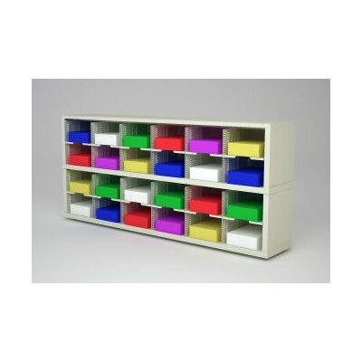 Mail Sorter with 24 Pockets Color: Putty