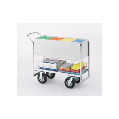 Long Solid File Cart with Tires B256-HP
