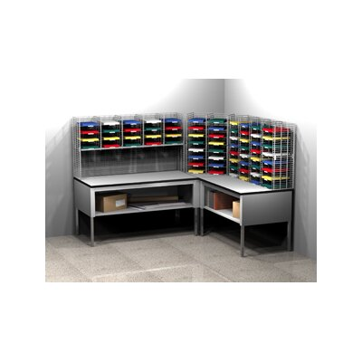 68 Compartment Mailroom Organizer Size: 60.25 - 72.25 H x 96 W x 84 D