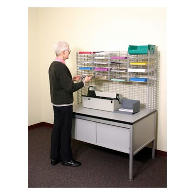 16 Pocket Raised Mail System Wire Shelves Size: 11.13 W x 12 D