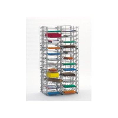 24 Pocket Wire Mail Sorter Size: 48.38 H x 24 W x 12 D