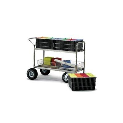 Long Wire Basket File Cart Wheel Type: Molded Rubber