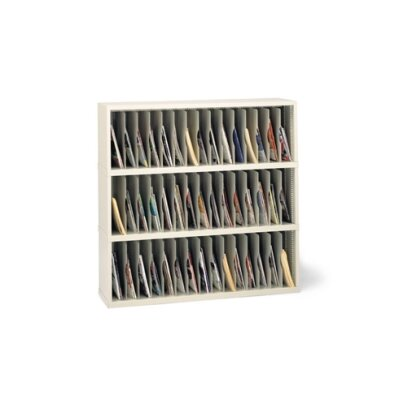 45 Vertical Pocket Sorter Size: 47.13 H x 48 W x 12.75 D, Color: Putty Product Image 7537