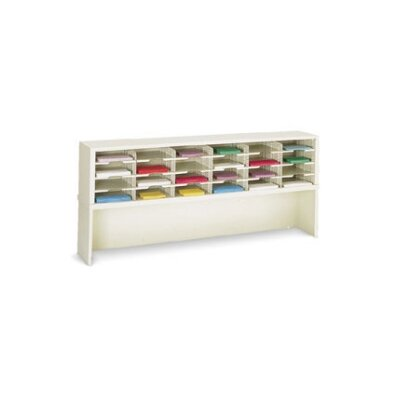 28 Pocket Sorter Size: 31.75 H x 72 W x 15.75 D, Color: Grey