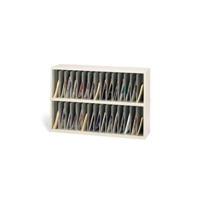 30 Vertical Pocket Sorter Color: Grey, Size: 31.75 H x 48 W x 15.75 D
