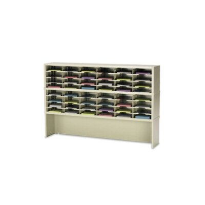 48 Pocket Mail Sorter Size: 47.13 H x 72 W x 12.75 D, Color: Putty