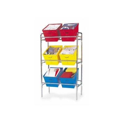 Triple Tote Rack Size: 59.5 H x 34 W x 18 D