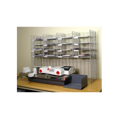 16 Pocket Raised Mail System Wire Shelves Size: 11.13 W x 15 D