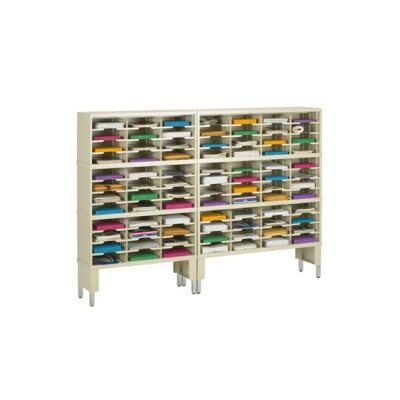 84 Pocket Mail Sorter and Riser Color: Grey