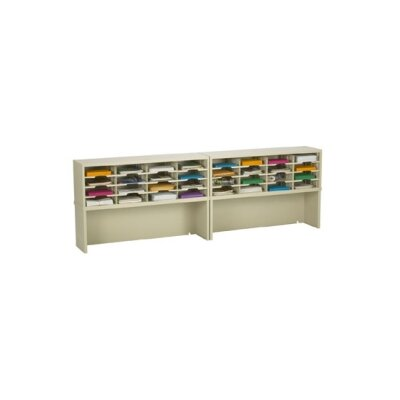 32 Pocket Mail Sorter with Closed Riser Color: Grey