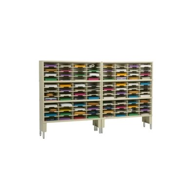 96 Pocket Mail Sorter with Open Riser Color: Putty