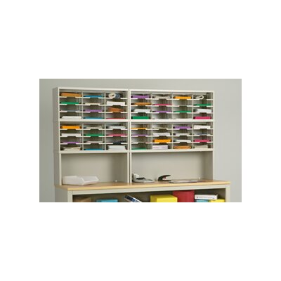 56 Pocket Mail Sorter and Riser on Base Color: Putty