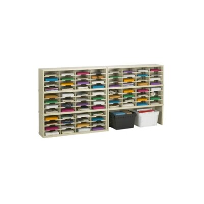 80 Pocket Mail Sorter with Closed Riser Color: Grey