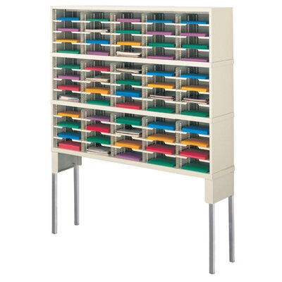 60 Pocket Mail Sorter with Tall Riser Color: Putty