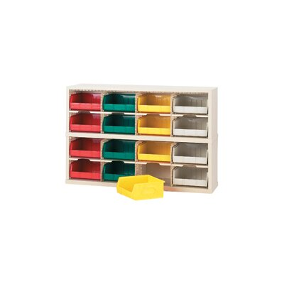 16 Pocket Bins Sorter Color: Grey