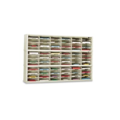 72 Pocket Sorter Color: Putty, Size: 47.13 H x 72 W x 12.75 D