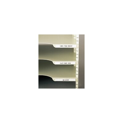 Adhesive Backed I.D Shelf Label with Cardboard Insert