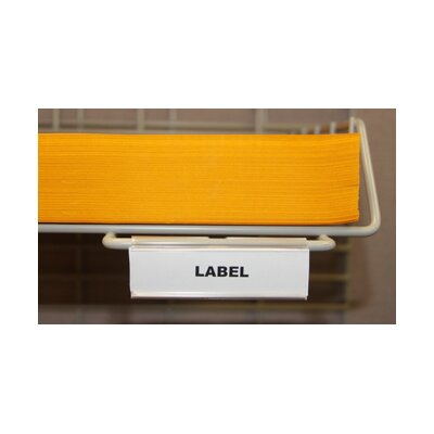Hook-on Wire Shelf Labels