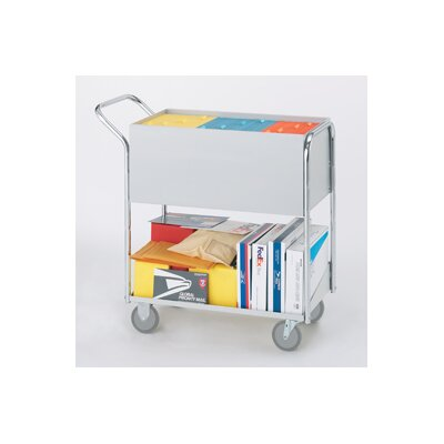Medium Solid File Cart with Casters B242