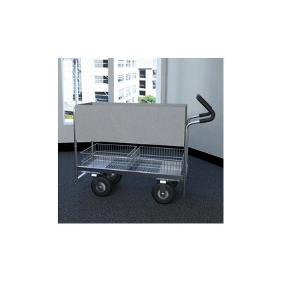 Long Solid File Cart with Tires and Easy Push Handle B256E-N