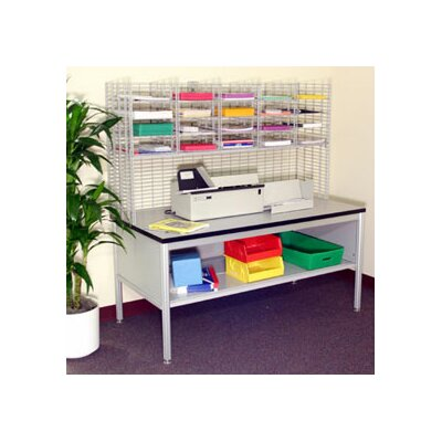 20 Pocket Raised Mail System Wire Shelves Size: 11.13 W x 15 D