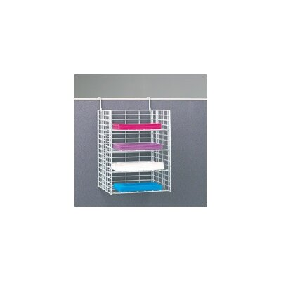 4 Pocket Wire Sorter Partition Depth: 3, Size: 16.13 H x 12 W x 15 D